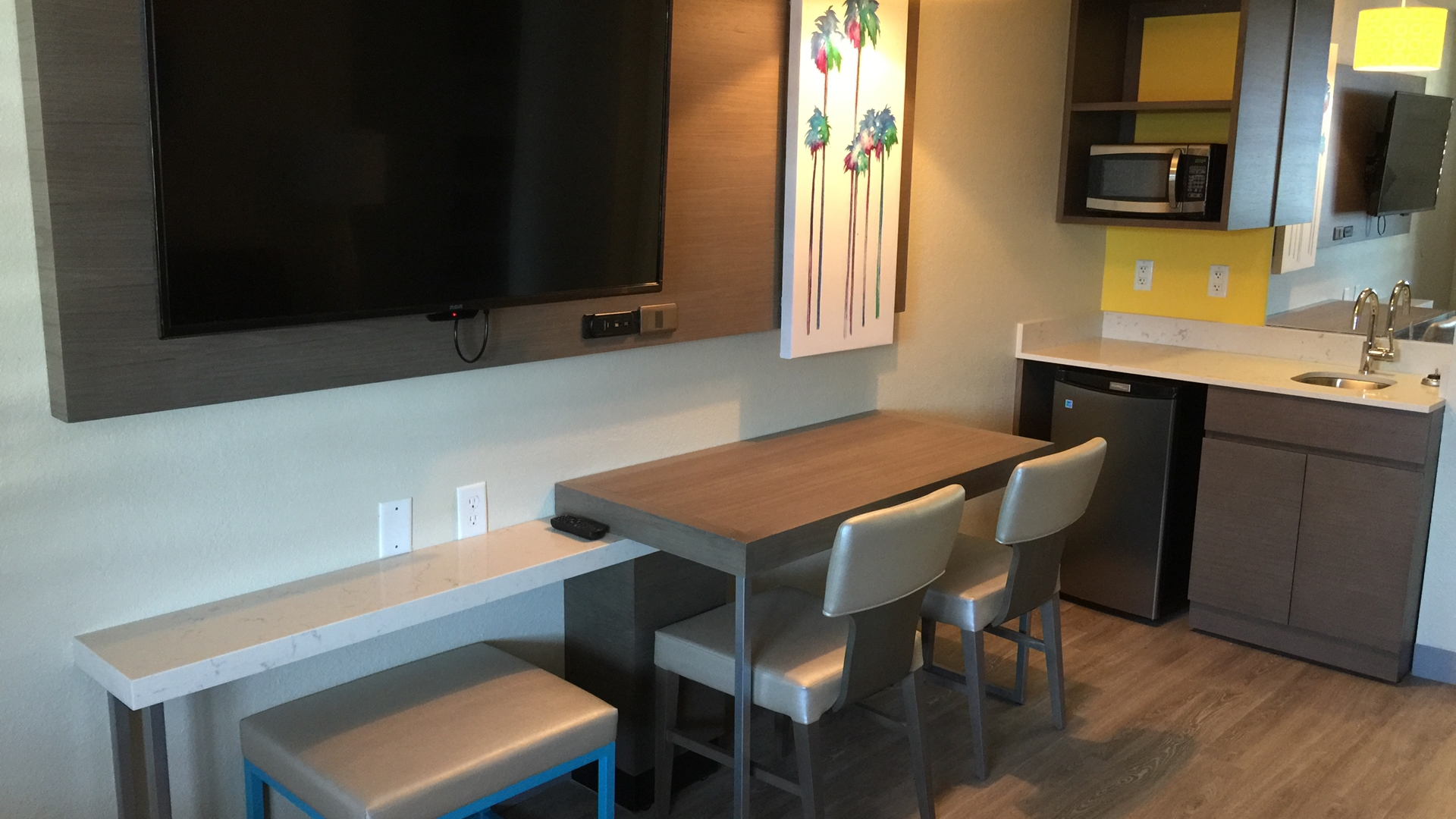 Suite TV and Wetbar